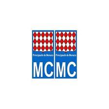 Monaco MC principauté autocollant plaque droits
