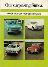 Simca 1100 1972-73 UK Market Sales Brochure LS GLS Special Estate