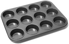 12 DEEP CUP MUFFIN NON STICK MUFFIN FAIRY CAKE TRAY TIN UK SELLER
