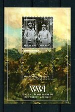 Togo 2014 MNH WWI 100th Anniversary World War One 2v S/S French Soldiers Stamps