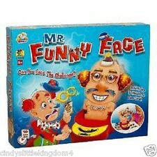 New Mr Funny Face Junior Build A Face Family Board Game  4+
