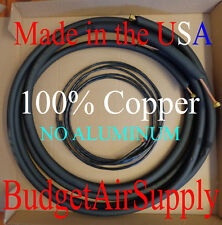 "1/4 x 1/2 x 15ft 1/2""100% Copper Ductless mini split Line set+Control wire USA"