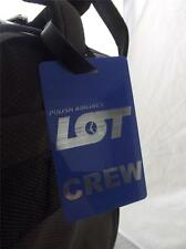 Novelty Luggage Crew Tags - Blue, Polish Airlines Crew