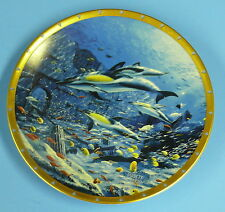 LENOX COLLECTOR PLATE  BOTTLENOSE DOLPHINS by JARRET HOLDERBY