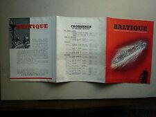 1939 BALTIQUE CROISIERE DU S/S COLOMBIE DU 21 JUILLET AU 10 AOUT 1939