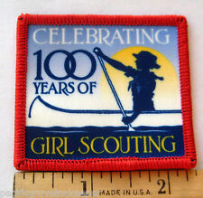 Girl Scout 1912-2012 100th Year ANNIVERSARY PATCH Canoeing In Khaki Uniform NEW