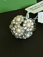 Kate Spade Park Avenue Faux Pearls Ring Size 7