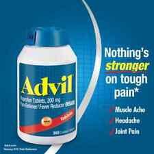 Advil Ibuprofen 200mg 360 Tablets Pain Reliever/Fever Reducer EX 4/2018 OR LATER