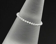 925 Sterling Silver Diamond Cut Ball Chain Ring. Size 6 US