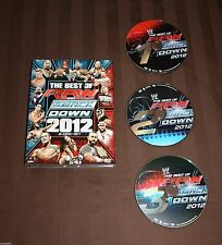 WWE: The Best of Raw and Smackdown 2012 (DVD, 2013, 3-Disc Set)