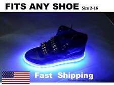 LIGHT up your SHOES ____any size 7 8 9 10 11 12 13 14 15 Nike Adidas Air Jo