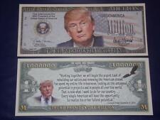 UNC. PRESIDENT TRUMP NOVELTY NOTE ONLY .25 SHIPPING FREE SHIP + FREE NOTES!