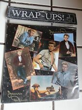 RARE VINTAGE NEW JAMES DEAN GIFT WRAPPING PAPER  WRAP UPS 1992 Holiday WOW