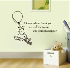 Wall Stickers winnie the pooh advanture happen vinyl decal decor Nursery kids