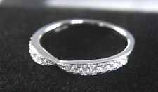 1/2 ct vvs Diamonds Wedding Bridal Statement Band 14k White Gold with Diamante
