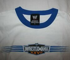 Mens Wrestlemania 2011 Atlanta Ringer T-Shirt Large L World Wrestling WWE