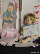 Danbury Mint ~ Thumbelina ~ Special Edition ~ Porcelain Doll ~ With Extra Outfit