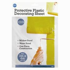 3x4 M  PLASTIC DROP CLOTH PAINTING HOME IMPROVEMENT DISPOSABLE DROP COVER SHEET