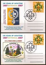 ROMANIA 2007 MAXI CARDS SCOUTS 100 YEARS EUROPA CEPT