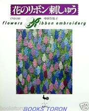 Flowers Ribbon Embroidery /Japanese Needlework Craft Pattern Book