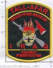 Iraq - Tall-Afar CFR Combat FF Fire Dept Patch  Crash Fire Rescue