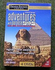 ADVENTURES WITH PURPOSE Richard Bangs 4 DVD set NEW ZEALAND NORWAY SWITZERLAND +