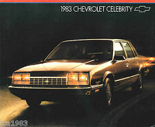 1983 Chevrolet CELEBRITY Brochure / Catalog with Color Chart: CL, Diesel