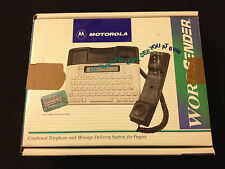 Motorola WordSender Vintage Telephone & Messager Pager First Texting Used IN BOX