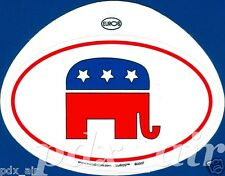 UNITED STATES REPUBLICAN GOP ELEPHANT PARTY OVAL STICKER