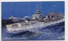 """(w10q3-181) H.M. Light Cruiser, """"DAUNTLESS"""",  c1940 Unused VG-EX"""