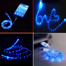 LED Micro USB Charger Data Cable for Samsung Galaxy S4 S5 S6 S7Edge Sony HTC LG