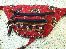 Vera Bradley Rare Retired Red Coin Fanny Pack