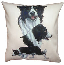 Border Collie Group Breed of Dog Cotton Cushion Cover - Perfect Gift