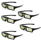 New Wireless 144Hz IR Shutter Glasses For 3D DLP-LINK Ready Projector 5 Pcs