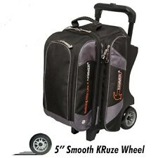 Hammer 2 Ball Deluxe Roller Bowling Bag with Urethane Wheels Black/Carbon