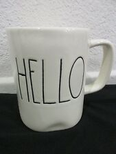 Magenta Inc Rae Dunn HELLO Ivory Coffee Cup Tea Mug