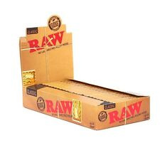 1 Pack RAW Classic Hemp Natural Unrefined Rolling Papers - 1 1/4 - 32 Papers