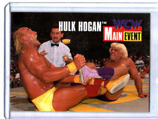 WCW Hulk Hogan vs Ric Flair 1995 Cardz The Main Event Promo Card