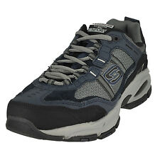 Skechers Vigor 2.0-Trait Navy/Gray Mens Sneaker Oxford Size 12W