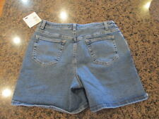 LIZ CLAIBORNE Blue Denim Jean Shorts 10 New / Tags retail $44 NWT W 30 -32 L 6""