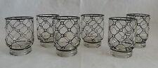 6 kleine Schnapsgläser aus Pressglas. Art Deco. oval.