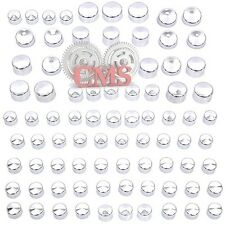 79 Piece Chrome Cap Dress Kit for 99-16 Harley Big Twins Engine Full Bolt Cover
