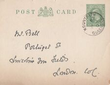 GB/IRELAND :1910 Halfpenny P.S. card- MOUNTRATH/QUEENS Co s/ring cancel