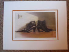 """JAN PETER TRIPP GERMAN ARTIST """"THE TWO SIDES OF AM"""" SIGNED 1986 ETCHING PRINT"""