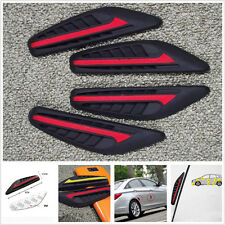 4x Car Red&Black Rear View Mirror Protector Crash Bar Door Edge Anti-rub Strips
