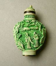 Antik China Snuff Bottle Schnupftabakflasche - Beinschnitzerei - Qing-Dynastie