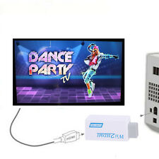 White Wii To HDMI 720P/1080P Upscaling Converter Adapter with 3.5mm Audio Output