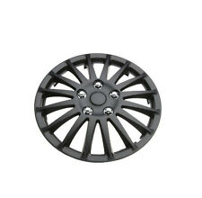 "Hyundai S-Coupe 14"" Stylish Black Lightning Wheel Cover Hub Caps x4"