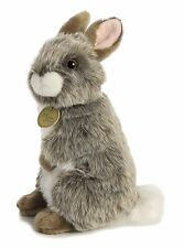 New Aurora Miyoni Stuffed Plush Toy American Chinchilla Grey Bunny Wild Rabbit