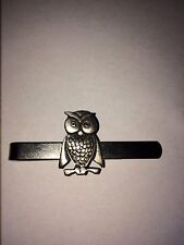 OWL  DR6  Fine English Modern Pewter on a Tie Clip (slide)